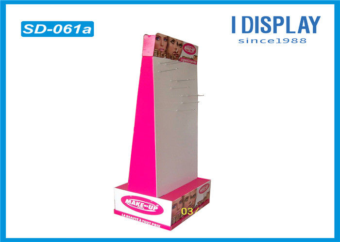 Corrugated Cardboard Hook Display Stands For Convenience Store